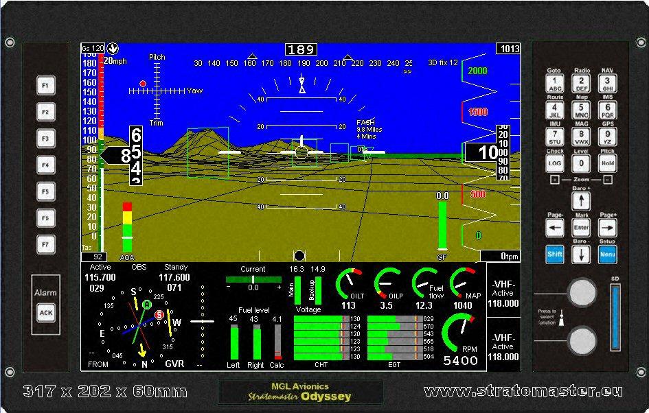 odyssey stratomaster instrumentation mgl avionics  at bayanpartner.co